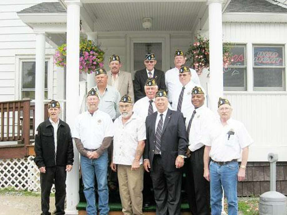 Photos Courtesy American Legion William Russell Post 404 AUXILIARY Front row, from left: Sgt. At Arms, Dan Dunn; 3rd Vice Commander, Tim Lynch; Treasurer, Zach Dauksza; Commander, Marvin Stein; Past Commander, Darol Tucker; Historian, Eston Batchelder. Row 2, from left: 1st Vice Commander, Richard Trost; Adjutant, Nelson Dodge; 2nd Vice Commander, Don Roberts. Row 3, from left: Chaplain, George Yoxall; Membership Chairman and Oneida County Sgt. At Arms, George Dorn; Judge Advocate, Art Strife.