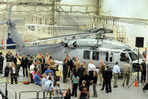 Sikorsky Aircraft and the U.S. Navy celebrate the delivery of the 100th Sikorsky-built MH-60R Seahawk helicopter and the near completion of the 200th MH-60S Seahawk helicopter at their headquarters in Stratford, Conn. Wednesday, April 27, 2011.