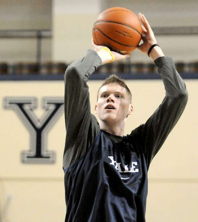 Greg Mangano, Yale Basketball, 1/25/12 during practice at the Lee Amphitheater at Yale University. Photo by Peter Hvizdak / New Haven Register January 25, 2012       ph2446               #     Connecticut