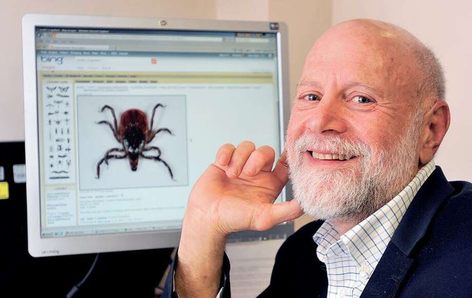 New Haven-- Dr. Eugene Shapiro, professor of Pediatrics, Epidemiology and Investigative Medicine at Yale is leading expert on Lyme Disease. Photo- Peter Casolino/New Haven Register 03/02/12
