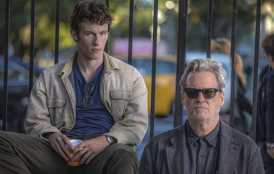"""L-R: Callum Turner plays an aspiring writer who befriends a novelist played by Jeff Bridges in """"The Only Living Boy in New York,"""" opening at Bay Area theaters on Friday, August 11. Photo by Niko Tavernise. Courtesy of Amazon Studios and Roadside Attractions. Photo: Amazon Studios And Roadside Attractions"""