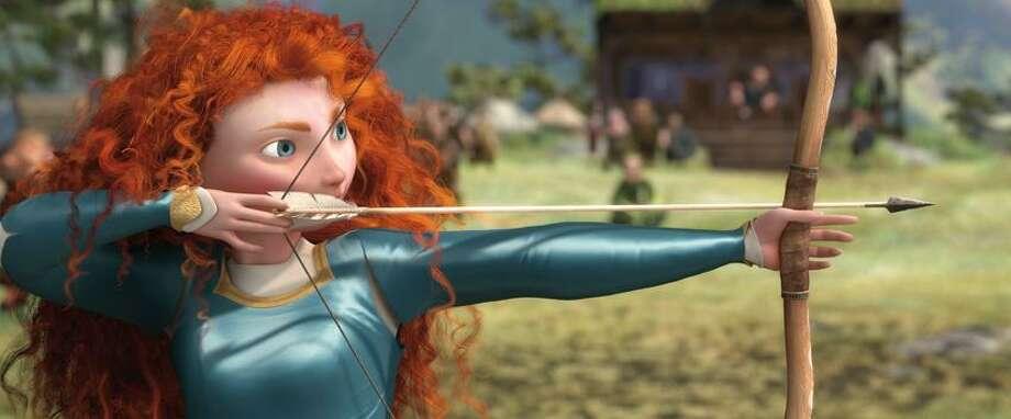 "Disney/Pixar photo: Feisty Princess Merida takes aim at independence in Disney/Pixar's ""Brave."" Photo: AP / å©2012 Disney/Pixar. All Rights Reserved."