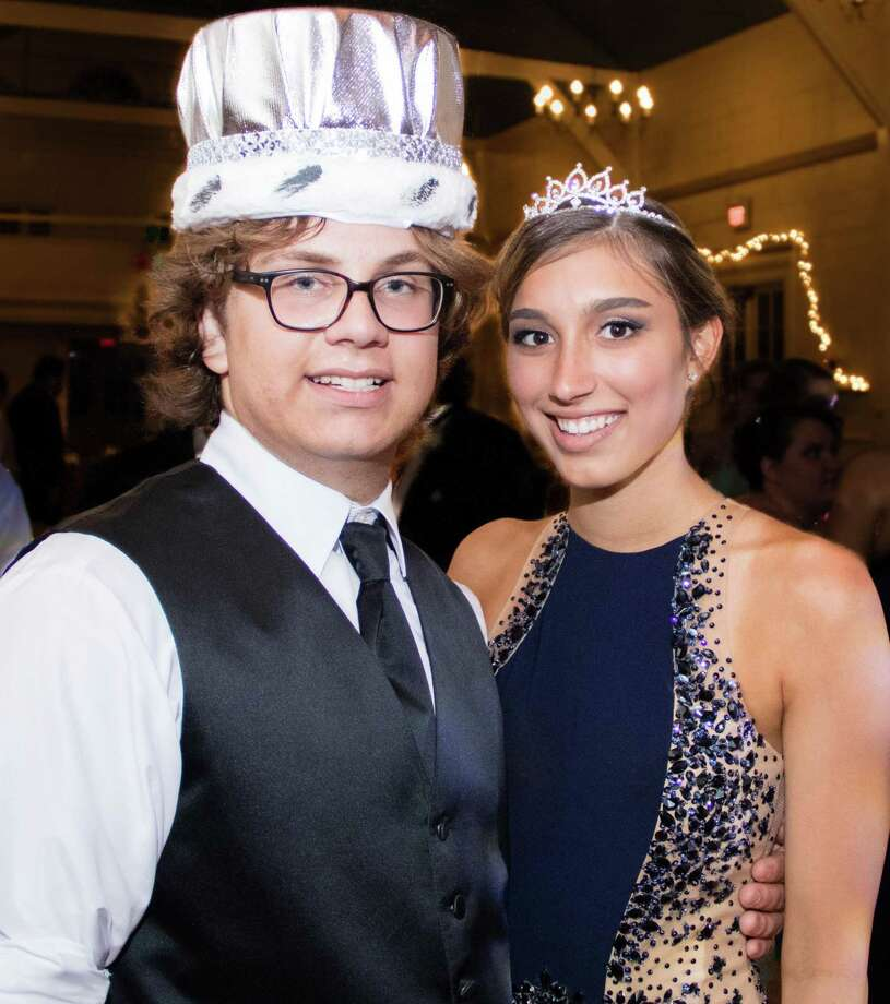 Mark Santariello and Cassidy Seaver were crowned king and queen of the Glenholme School prom held June 3 at the Washington Club. Photo: Courtesy Of Glenholme School / The News-Times Contributed