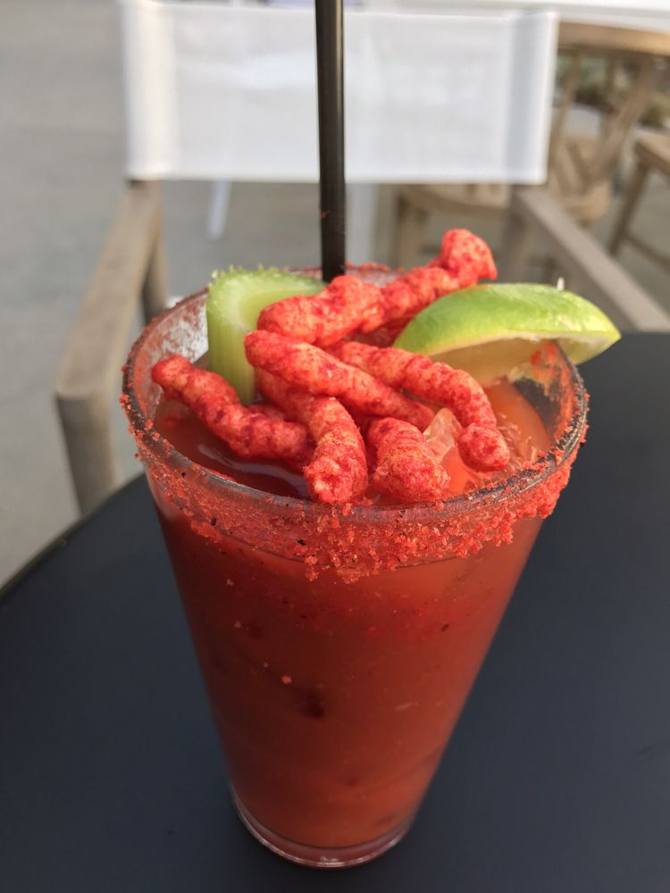 A flamin 39 hot cheetos bloody mary drink is now a thing for Food bar drinking game