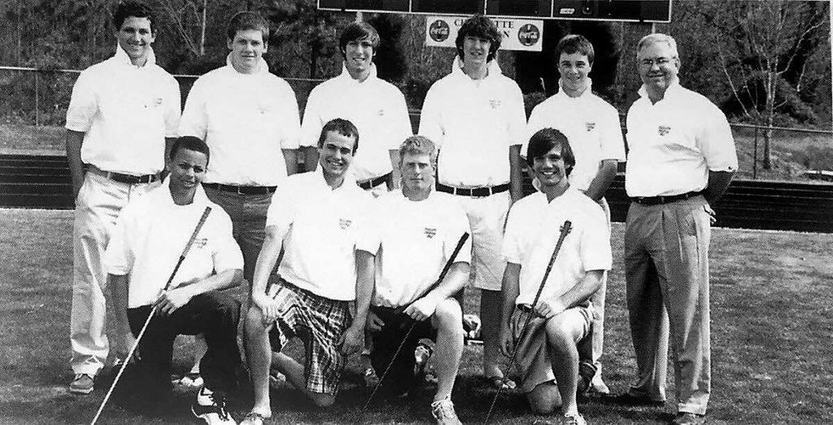 Stephen Curry (bottom row, far left) played on the golf team for three years at Charlotte Christian School.