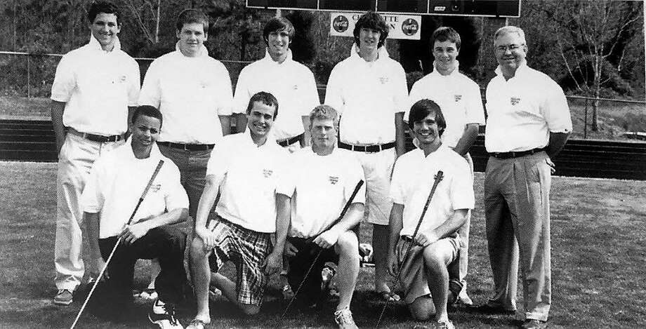 Stephen Curry (bottom row, far left) played on the golf team for three years at Charlotte Christian School. Photo: Courtesy Charlotte Christian School