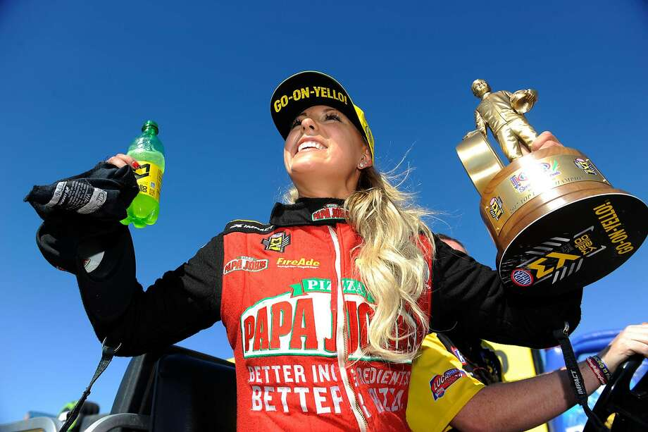 Leah Pritchett arrives in Sonoma third in Top Fuel and having clinched a playoff spot. Photo: NHRA