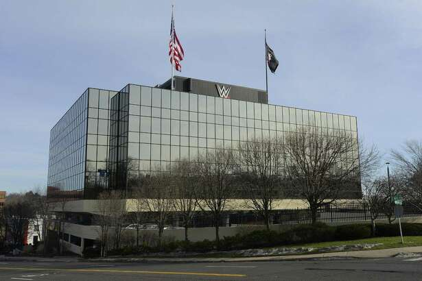 """Exterior photographs taken on Dec. 23, 2016 of the """"Titan Tower"""" , the WWE headquarters based in Stamford, Connecticut."""