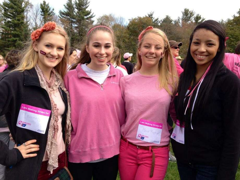 Submitted photo Ashlyn Lewis, Maria Fagerland, Cat Ward and Katherine Lamagdeleine at the Making Strides Breast Cancer Walk