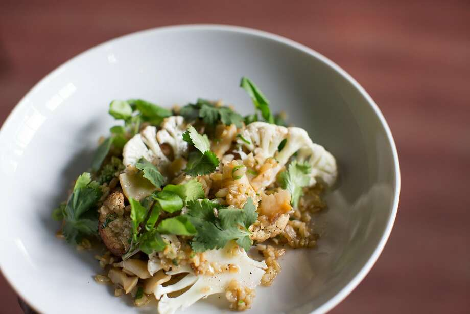 At Jardinaire: A dish of brasicas, abalone, farro verde and cilantro. Photo: Randi Lynn Beach, Special To The Chronicle