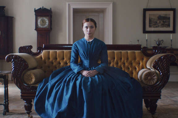 "Florence Pugh stars in ""Lady Macbeth,"" directed by William Oldroyd."