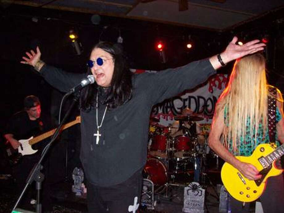 SUBMITTED PHOTOThe ultimate Ozzy Osbourne tribute band Ozzmageddon, featuring, from left, bassist Vinny G., frontman James Cross, drummer Monster Mike Merrifield, and guitarist Roy Coston, returns to the Madison House Restaurant in Oneida on Saturday, Feb. 18.