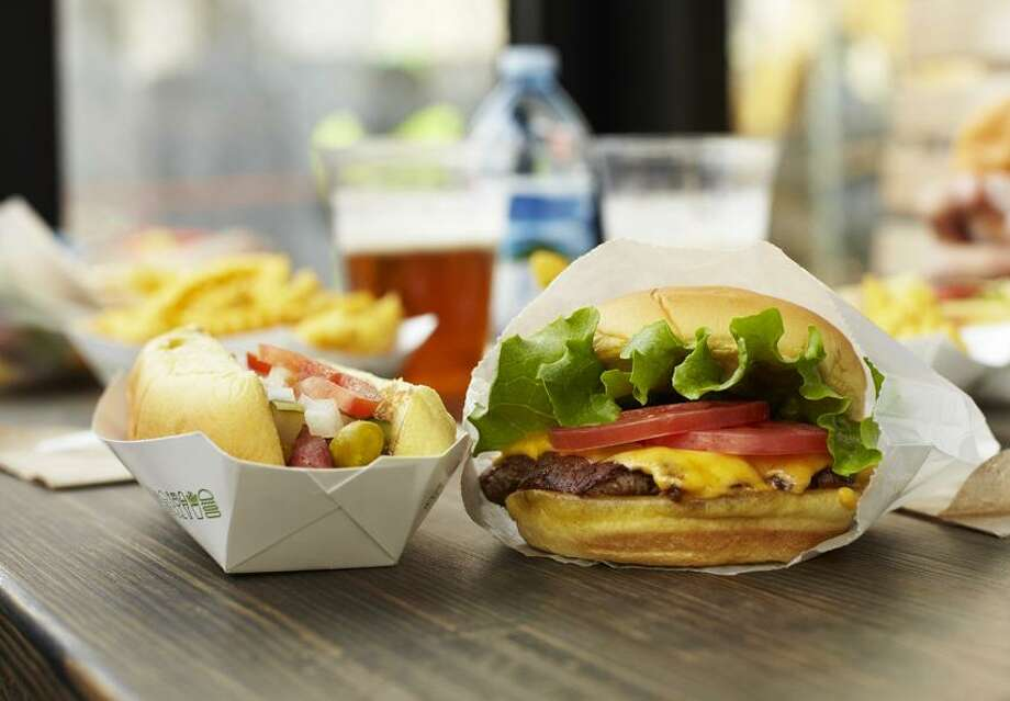 """William Brinsom photo: For those who haven't had a chance to stop by, Shake Shack is a modern-day """"roadside"""" burger stand, known for its all-natural burgers, flat-top hotdogs, fries and frozen custard."""