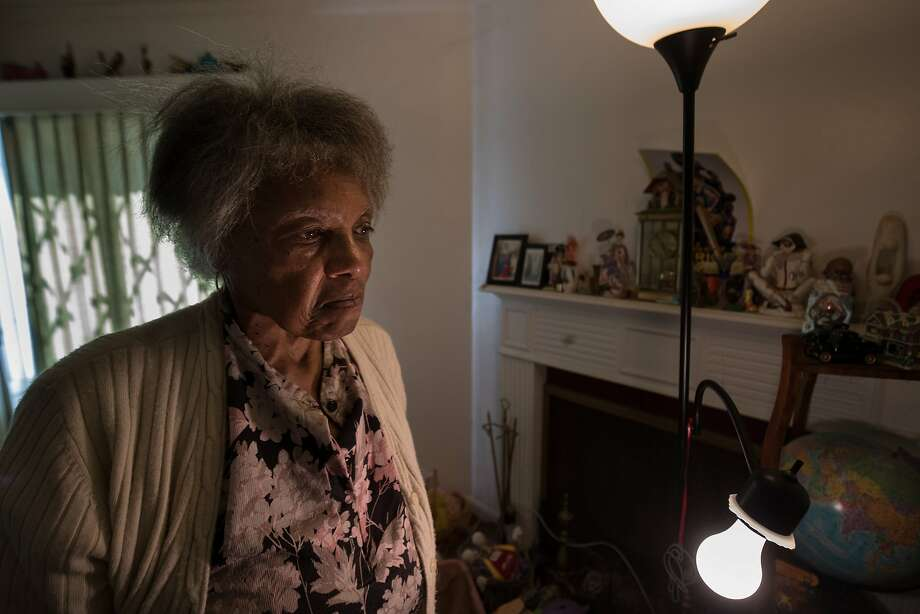 DeBose stands inside the house she has lived in for four decades and that she believed would be hers, but, in a complicated series of events, it may never be. Photo: Paul Kuroda, Special To The Chronicle