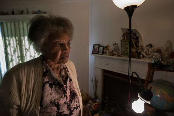 Dorothy DeBose, 77, inside her foreclosed home she grew up in on Thursday, July 27, 2017 in Oakland, CA.
