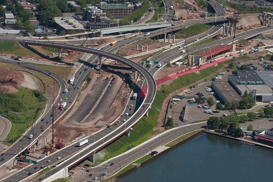 I - 95 entrance onto the new Pearl Harbor Memorial Bridge which should be open late Friday June 22,2012 - marked in red. vm Williams 06.15.12