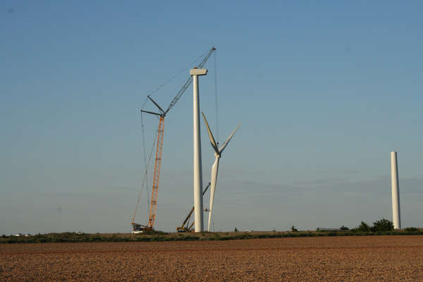 Turbine construction at Invenergy's McAdoo Wind Energy Center in McAdoo, Texas. (