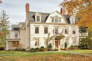 The colonial at 114 Main Street in Ridgefield, Conn. was built by David Hoyt in 1740 on Founder's Lot 1, making it one of the first houses built in the town.