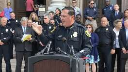 Houston Police Chief Art Acevedo was among dozens of law enforcement officials statewide who rallied on the steps of the Texas Capitol to oppose a new bathroom bill that is being debated during the special session of the Texas Legislature. Such measures imperil the state's economy.