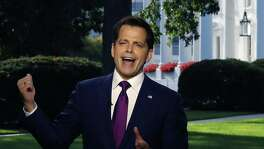 White House Communications Director Anthony Scaramucci speaks on a morning television show, from the north lawn of the White House on Wednesday. But a new communications director will be only as good as the leadership accomplishments he is trying to sell.