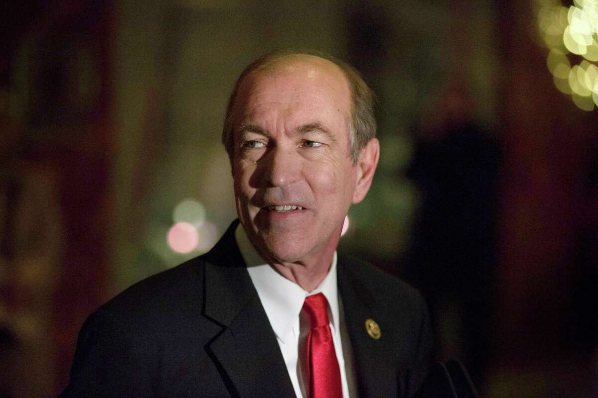 FILE-- Rep. Scott Garrett (R-N.J.) speaks to reporters at Trump Tower on Fifth Avenue in Manhattan, Dec. 15, 2016. Garrett, nominated to run the ExportÂ?-Import Bank of the U.S., was one of the bankÂ?'s most ardent conservative Republican critics, and is seen as a curious choice whose Senate confirmation is not a lock. (Kevin Hagen/The New York Times)