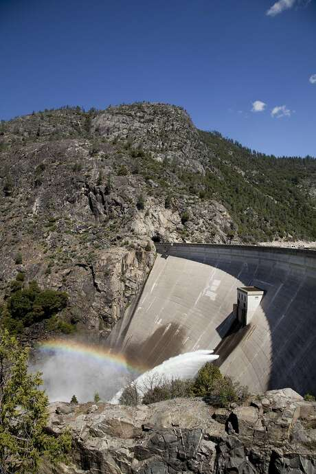 The O'Shaughnessy Dam at Hetch Hetchy Reservoir, one of the dams where the state has ordered spillway inspections.  Photo: Robin Scheswohl, PUC