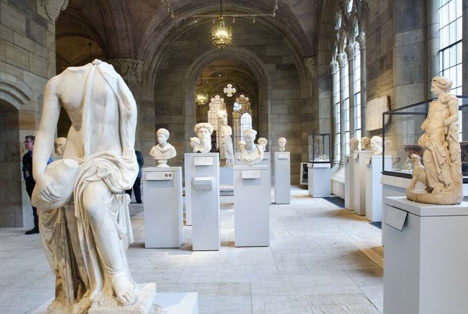 Melanie Stengel/Register photo: The ancient art sculpture hall connects visitors to the previous Old Yale Art Gallery part of the building.