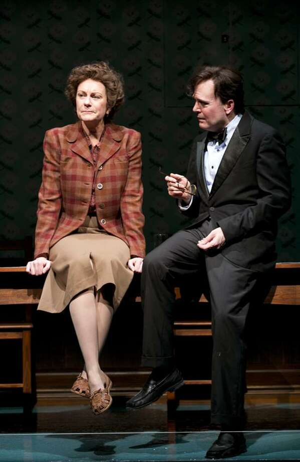 "Joan Marcus photo: Mary Beth Fisher (Elizabeth) and Jefferson Mays (Robert Lowell) star in ""Dear Elizabeth,"" running through Dec. 22 at Yale Repertory Theatre."