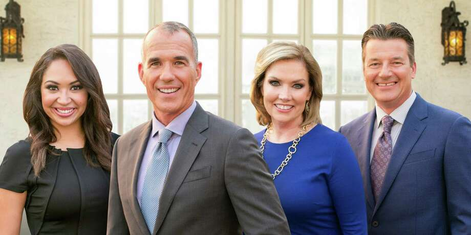 KENS-TV's 5 p.m. news team will wave goodbye to traffic anchor Chelsey Hernandez, far left, who's leaving KENS in March for a golden opportunity at ABC station KTRK-TV in Houston, the seventh largest U.S. market. Photo: KENS-TV