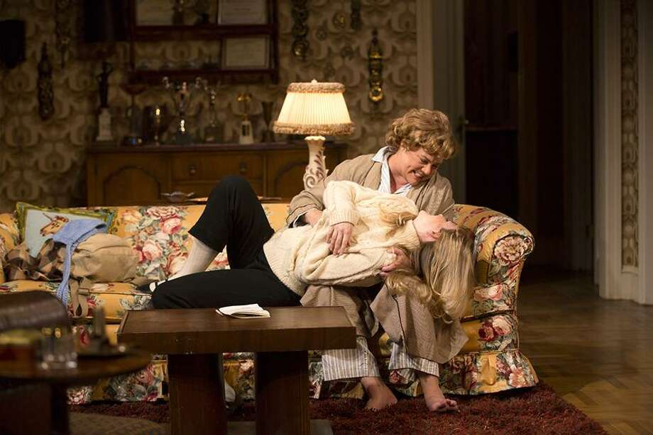 "T. Charles Erickson photo: Kathleen Turner and Clea Alsip have a moment in the comedy ""The Killing of Sister George,"" now playing at Long Wharf Theatre through Dec. 23. / T Charles Erickson"