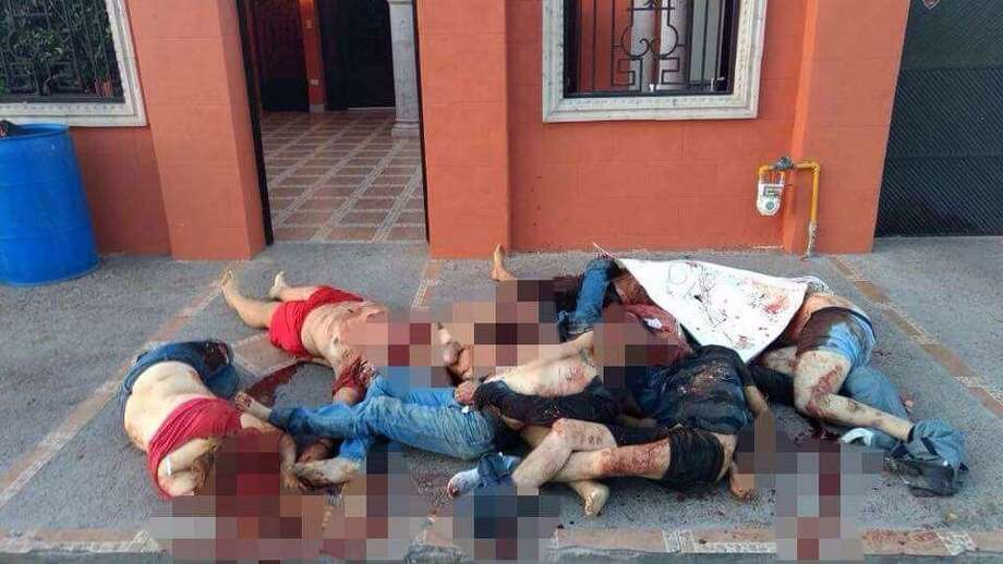 Headline: 'This is not a game, nephew': Pile of bodies discovered outside Nuevo Laredo residence