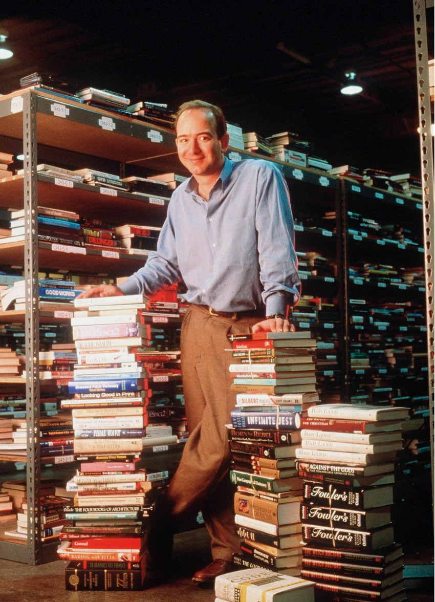 Jeff Bezos in 1997, three years after founding Amazon.