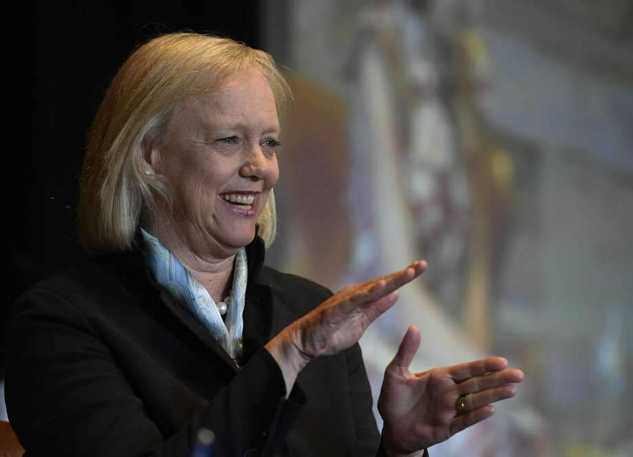 Former CEO and President of Hewlett Packard Enterprise Meg Whitman during her keynote address at the Women in Technology Conference June 09, 2017 at the Spruce Mountain Ranch in Larkspur. Photo: Andy Cross/Denver Post Via Getty Images