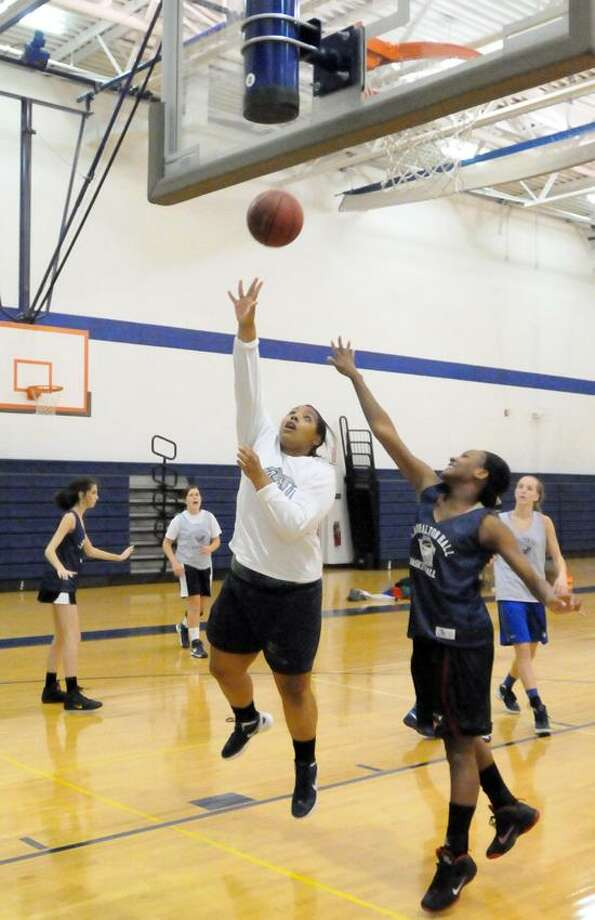 Olivia Levey of Lauralton Hall during basketball practice Friday, November 23, 2012 at the Lauralton Hall Athletic Center.  Photo by Peter Hvizdak / New Haven Register Photo: New Haven Register / ©Peter Hvizdak /  New Haven Register