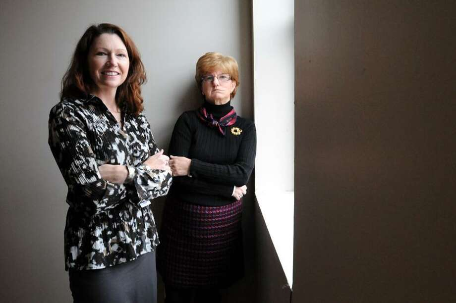 Kellyann Day, CEO of New Haven Home Recovery and Maryrose Hoffman, board member of New Haven Home Recovery. 