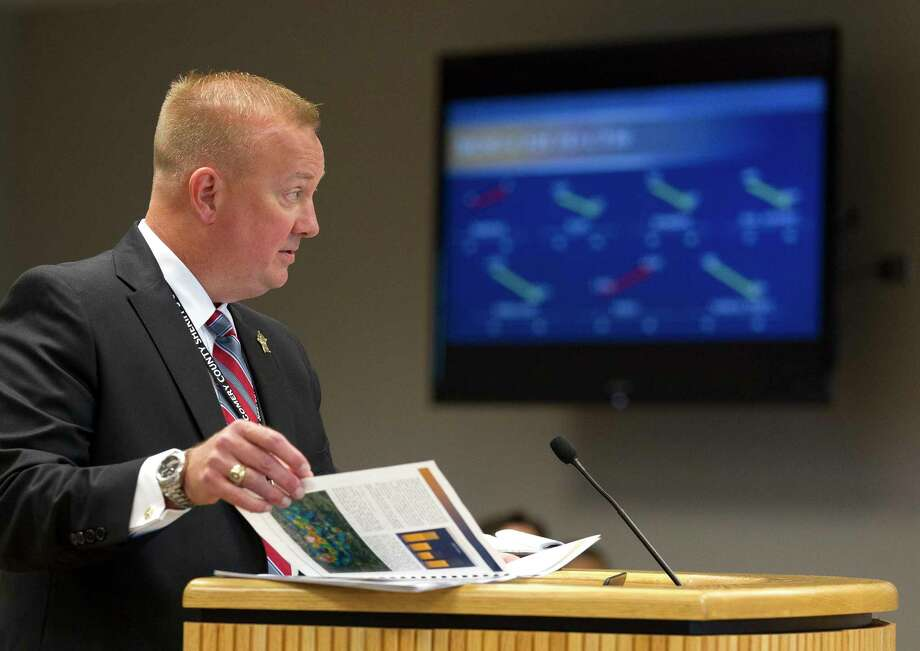 Montgomery County Sheriff Rand Henderson has requested more personnel that would add $3.7 milion to his recommended 2018 budget of $70.1 million. Photo: Jason Fochtman, Staff Photographer / © 2017 Houston Chronicle