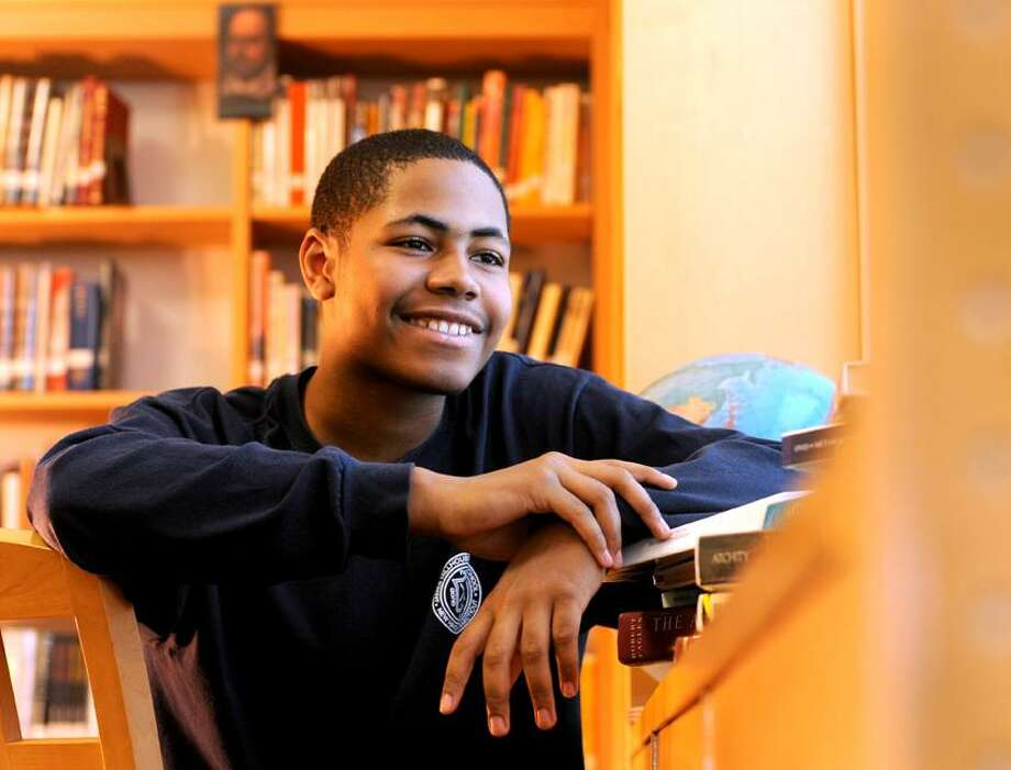 Malcolm Jefferson of New Haven, 15, a Hillhouse High School 10th-grader, has been accepted to Bard College. Photo by Peter Hvizdak /New Haven Register Photo: New Haven Register / ©Peter Hvizdak /  New Haven Register