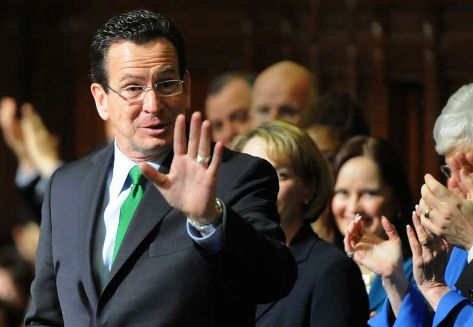 """Gov. Dannel P. Malloy gives the Fiscal Year 2013 Midterm Budget Address, """"Building on Economic Revival"""" in the state House at the Capitol Wednesday, stressing fiscal discipline, letting the world know """"Connecticut is open for business"""" and a commitment to funding public schools. Peter Hvizdak/Register Photo: New Haven Register / ©Peter Hvizdak /  New Haven Register"""