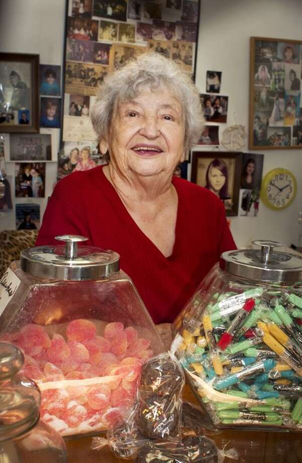 Wanda Hornack, owner of Wanda's Sugar Shack, is about to celebrate her 90th birthday.    Melanie Stengel/Register