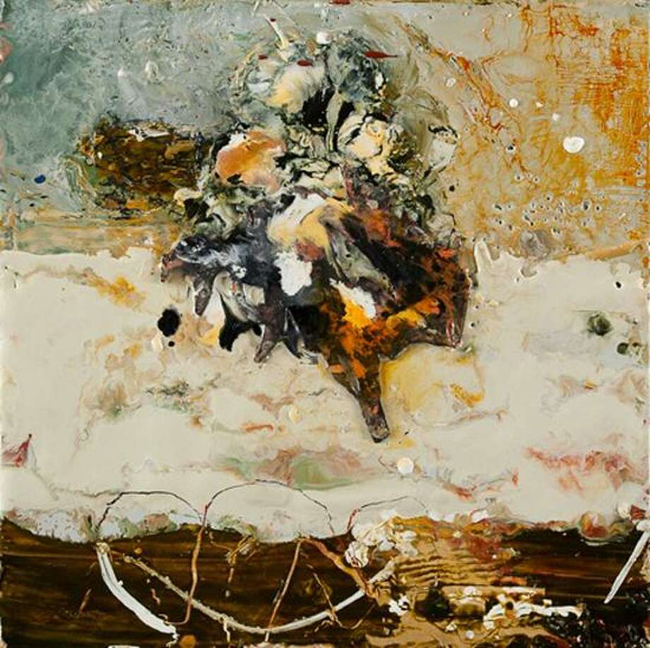 Photo courtesy of the artist: Mary Black's encaustic on panel from her Pieces series.