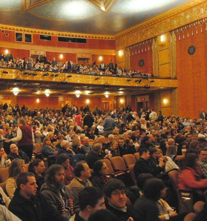 MIKE AGOGLIATI/ Register Citizen The Warner Theatre was a packed house for the premiere of Ti West's 'The Innkeepers'.