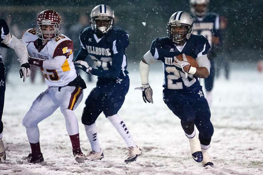 Hillhouse defeated St Joseph  34-14 at East Haven High School's Crisafi Field, November 27, 2012. vm Williams
