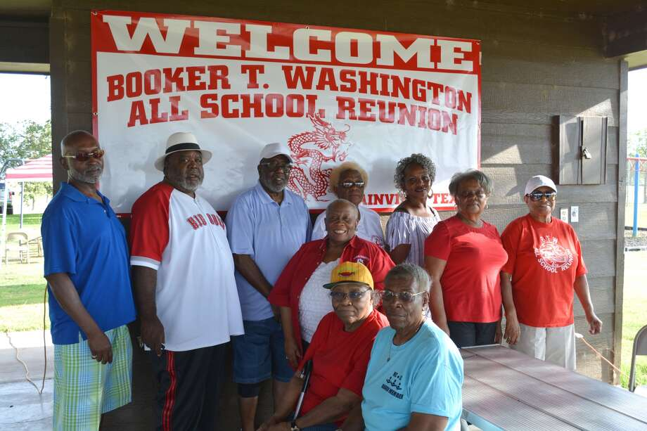 Members of the Booker T. Washington All-School Reunion Committee gather Thursday in Givens Park to begin the weekend event. The reunion is held every other year who attended classes there before Plainview schools were integrated in the mid-1960s. The last BTW senior class graduated 50 years ago, in 1967. Committee members include Kenneth Wright (left), Joe Turner, Earnest Washington, Ruby Riggins, Doris Washington, Ruby Ray, Dianne Pitts, Margie Thompson, Carolyn Thompson, Aquila Thompson and, not shown, Kathleen Jackson and Riley Washington Sr.