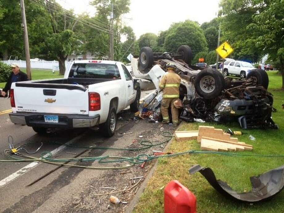 Scene of crash. Joe Amarante/Register