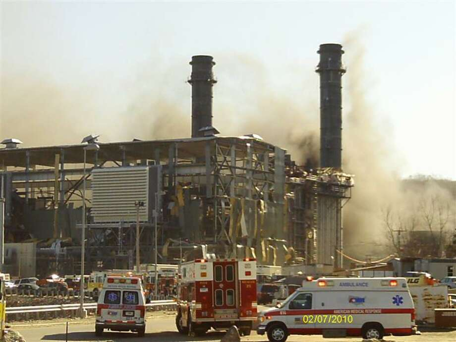 Submitted photo from 2010 explosion at the Kleen Energy plant in Middletown