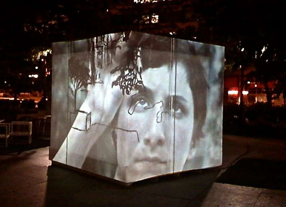 """Contributed photo: """"The Play House/Beyond What Was. The Lot,"""" is on display at The Lot, 812 Chapel St., New Haven. By weekend day, it will host Artspace artists in residence, this weekend Darwin Nix. At night, it becomes a projection cube."""