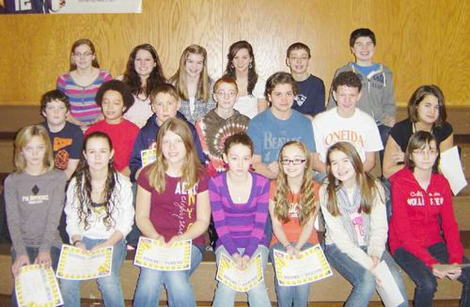 Photo Courtes OTTO SHORTELL MIDDLE SCHOOL The January Students of the Month at Otto Shortell Middle School.
