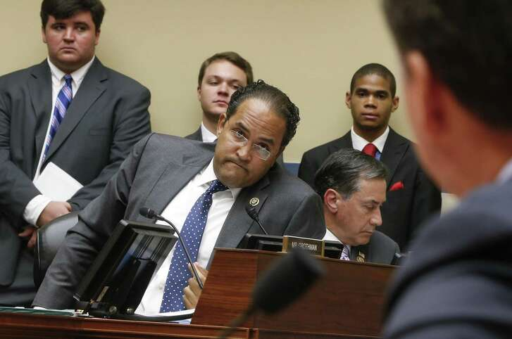 House Oversight and Government Reform Committee member Rep. Will Hurd, R-Texas, questions FBI Director James Comey on Capitol Hill in Washington, Thursday, July 7, 2016, during the committee's hearing to explain his agency's recommendation to not prosecute Democratic presidential candidate Hillary Clinton over her private email setup during her time as secretary of state. (AP Photo/J. Scott Applewhite)