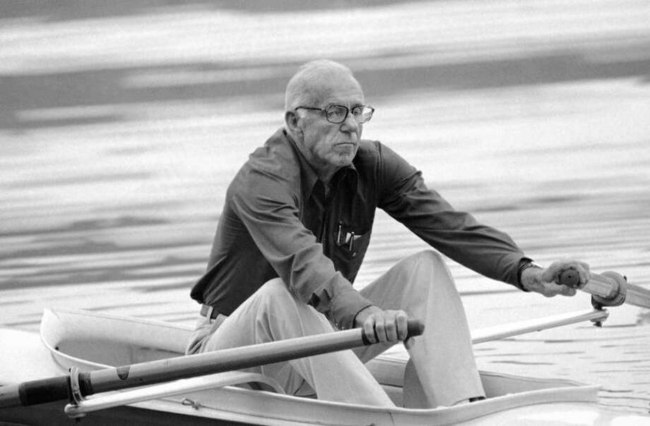 Dr. Benjamin Spock, a member of the 1924 Yale Olympic gold medal crew, is shown here in this 1978 photo in Arkansas. (Associated Press file photo) Photo: AP / AP1978