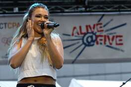 Rachel Platten performs at the Alive@Five concert series in Columbus Park on Thursday, July 27, 2017 in Stamford, Connecticut.